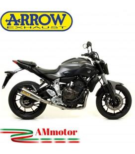 Terminale Di Scarico Arrow Yamaha MT-07 14 - 2020 Slip-On X-Kone Moto Versione Alta