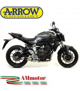 Terminale Di Scarico Arrow Yamaha MT-07 14 - 2020 Slip-On Thunder Titanio Moto Fondello Carbonio