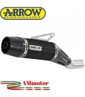 Terminale Di Scarico Arrow Yamaha MT-07 14 - 2020 Slip-On Jet-Race Nichrom Dark Moto