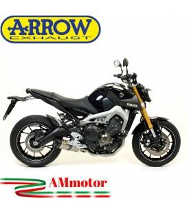 Terminale Di Scarico Arrow Yamaha MT-09 13 - 2020 Slip-On Thunder Carbonio Moto Fondello Carbonio