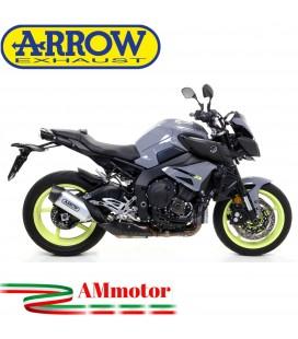 Terminale Di Scarico Arrow Yamaha MT-10 16 - 2020 Slip-On Indy-Race Alluminio Moto Fondello Carbonio