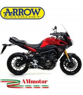 Terminale Di Scarico Arrow Yamaha Tracer 900 15 - 2020 Slip-On Thunder Alluminio Dark Moto Fondello Carbonio