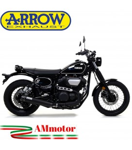 Terminale Di Scarico Arrow Yamaha SCR 950 17 - 2020 Slip-On Rebel Dark Moto Fondello Carbonio