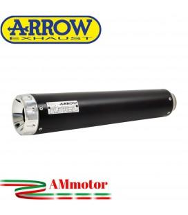 Terminale Di Scarico Arrow Yamaha SCR 950 17 - 2020 Slip-On Dark Moto Fondello Alluminio