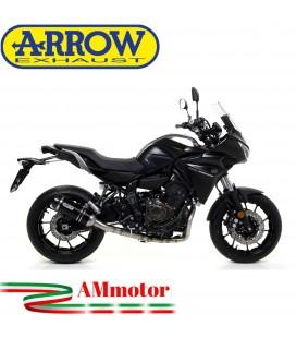 Terminale Di Scarico Arrow Yamaha Tracer 700 16 - 2019 Slip-On Thunder Alluminio Dark Moto Fondello Carbonio