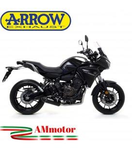 Terminale Di Scarico Arrow Yamaha Tracer 700 16 - 2019 Slip-On Jet-Race Nichrom Dark Moto
