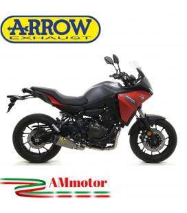 Terminale Di Scarico Arrow Yamaha Tracer 700 2020 Slip-On Works Titanio Moto Fondello Carbonio