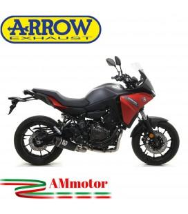 Terminale Di Scarico Arrow Yamaha Tracer 700 2020 Slip-On Works Nichrom Dark Moto Fondello Carbonio