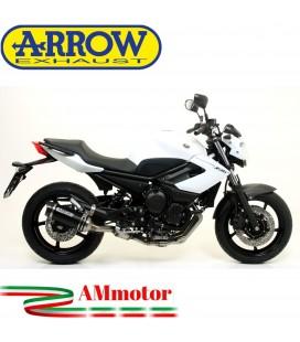 Terminale Di Scarico Arrow Yamaha Xj6 / Xj6 Diversion 09 - 2015 Slip-On Street Thunder Alluminio Dark Moto Fondello Carbonio