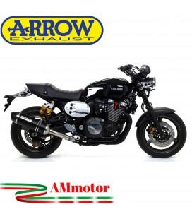 Terminale Di Scarico Arrow Yamaha Xjr 1300 07 - 2017 Slip-On Race-Tech Alluminio Dark Moto Fondello Carbonio