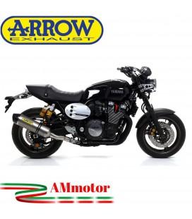 Terminale Di Scarico Arrow Yamaha Xjr 1300 07 - 2017 Slip-On Race-Tech Titanio Moto Fondello Carbonio