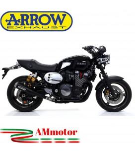 Terminale Di Scarico Arrow Yamaha Xjr 1300 07 - 2017 Slip-On Pro-Racing Dark Moto Fondello Inox