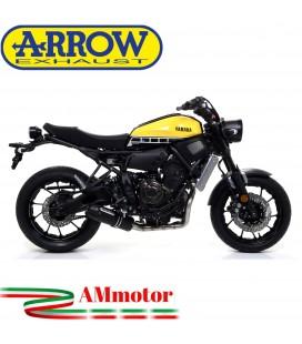 Terminale Di Scarico Arrow Yamaha Xsr 700 16 - 2020 Slip-On Jet-Race Nichrom Dark Moto