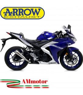 Terminale Di Scarico Arrow Yamaha Yzf R3 17 - 2018 Slip-On Pro-Race Nichrom Moto