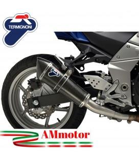 Terminale Di Scarico Termignoni Kawasaki Z 750 Marmitta Conica Carbonio Moto Omologato