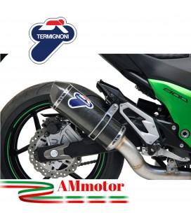Terminale Di Scarico Termignoni Kawasaki Z 800 Marmitta Relevance Carbonio Moto Racing
