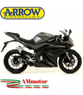Terminale Di Scarico Arrow Yamaha Yzf R 125 14 - 2016 Slip-On Street Thunder Alluminio Dark Moto