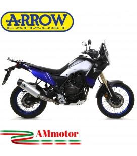 Terminale Di Scarico Arrow Yamaha Tenere' 700 19 - 2020 Slip-On Indy-Race Alluminio Moto Fondello Carbonio