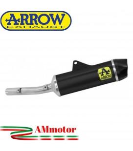 Terminale Di Scarico Arrow Yamaha Tenere' 700 19 - 2020 Slip-On Indy-Race Alluminio Dark Moto Fondello Carbonio
