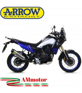 Terminale Di Scarico Arrow Yamaha Tenere' 700 19 - 2020 Slip-On Indy-Race Titanio Moto Fondello Carbonio