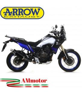 Terminale Di Scarico Arrow Yamaha Tenere' 700 19 - 2020 Slip-On Indy-Race Alluminio Dark Moto Fondello Inox