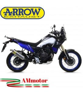 Terminale Di Scarico Arrow Yamaha Tenere' 700 19 - 2020 Slip-On Indy-Race Titanio Moto Fondello Inox