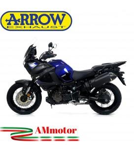 Terminale Di Scarico Arrow Yamaha XT 1200Z Super Tenere 10 - 2020 Slip-On Maxi Race-Tech Alluminio Dark Moto Fondello Carbonio