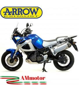 Terminale Di Scarico Arrow Yamaha XT 1200Z Super Tenere 10 - 2020 Slip-On Maxi Race-Tech Titanio Moto Fondello Carbonio