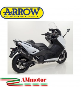 Terminale Di Scarico Arrow Yamaha T-Max 530 12 - 2016 Slip-On Race-Tech Alluminio Dark Moto Fondello Carbonio