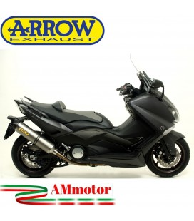 Terminale Di Scarico Arrow Yamaha T-Max 530 12 - 2016 Slip-On Race-Tech Titanio Moto Fondello Carbonio