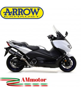Terminale Di Scarico Arrow Yamaha T-Max 530 17 - 2019 Slip-On Race-Tech Alluminio Dark Moto Fondello Carbonio
