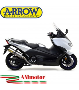 Terminale Di Scarico Arrow Yamaha T-Max 530 17 - 2019 Slip-On Race-Tech Titanio Moto Fondello Carbonio
