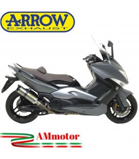 Terminale Di Scarico Arrow Yamaha T-Max 500 08 - 2011 Slip-On Street Thunder Titanio Moto Fondello Carbonio