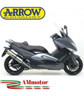 Terminale Di Scarico Arrow Yamaha T-Max 500 08 - 2011 Slip-On Race-Tech Titanio Moto Fondello Carbonio