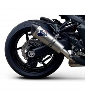 Terminali Di Scarico Termignoni Kawasaki Z 1000 Marmitte Conico Titanio Moto Omologato