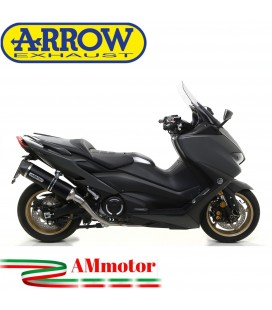 Terminale Di Scarico Arrow Yamaha T-Max 560 Slip-On Race-Tech Alluminio Dark Moto Fondello Carbonio