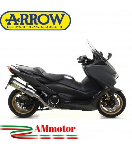 Terminale Di Scarico Arrow Yamaha T-Max 560 Slip-On Race-Tech Titanio Moto Fondello Carbonio