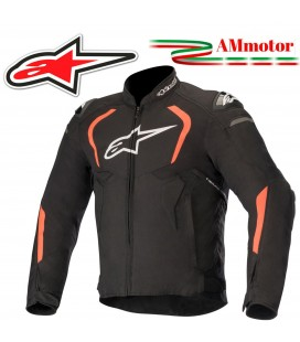 Giacca Da Moto Alpinestars T-GP Pro V2 Protezioni Nero Rosso Fluo Tessuto