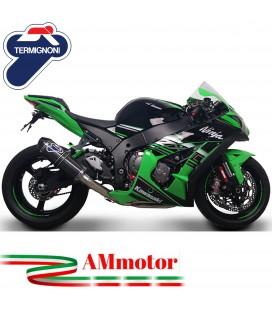 Scarico Completo Termignoni Kawasaki ZX-10 R Terminale Relevance Carbonio Moto Racing