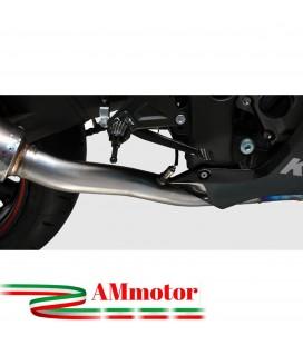 Kawasaki ZX-10 R 2010 Termignoni Tubo Elimina Kat Catalizzatore Moto Collettore Scarico Inox