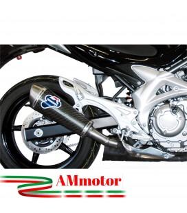 Terminale Di Scarico Termignoni Suzuki Gladius 650 Marmitta Ovale Carbonio Moto Omologato