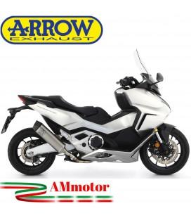 Terminale Di Scarico Arrow Honda Forza 750 Slip-On Race-Tech Titanio Moto Fondello Carbonio