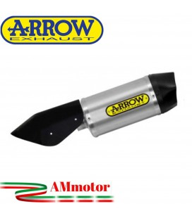 Terminale Di Scarico Arrow Honda Forza 750 Slip-On Race-Tech Alluminio Moto Fondello Carbonio Vers Corta