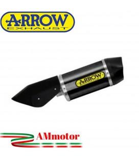 Terminale Di Scarico Arrow Honda Forza 750 Slip-On Race-Tech Alluminio Dark Moto Fondello Carbonio Vers Corta