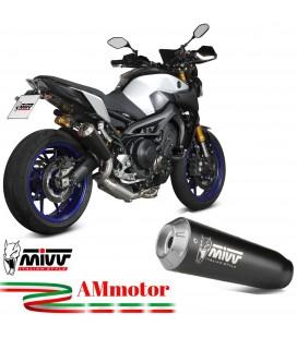 Scarico Completo Mivv Yamaha Mt-09 Terminale X-M1 Inox Nero Moto