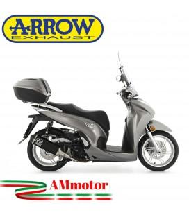 Terminale Di Scarico Arrow Honda SH 350 Slip-On Urban Alluminio Dark Scooter Fondello Nero