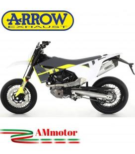 Terminale Di Scarico Arrow Husqvarna 701 Supermoto 2021 Slip-On Race-Tech Alluminio Moto Fondello Carbonio