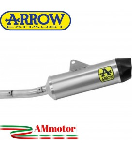 Terminale Di Scarico Arrow Aprilia RS 660 Slip-On Indy Race Alluminio Moto Fondello Carbonio