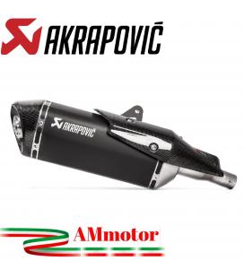 Akrapovic Honda X-Adv 750 2021 Terminale Di Scarico Slip-On Line Titanio Nero Moto Scooter Omologato