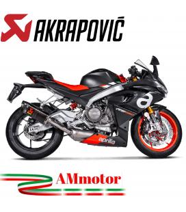 Akrapovic Aprilia RS 660 Impianto Di Scarico Completo Racing Line Terminale Carbonio Moto Omologato